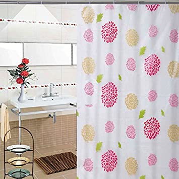 Sunflower Accessotech Modern Bathroom Shower Liner Curtains Extra Long with Hooks 180 x 180cm