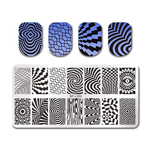 1Pc Flower Pattern Nail Stamping Plates Lace Nail Art Stamp Image Template Manicure Stencils Nailration,36308