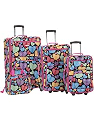 Rockland 4 Piece New Heart Luggage Set