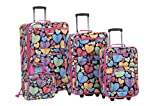 Rockland 4 Piece New Heart Luggage Set, Newheart, One Size