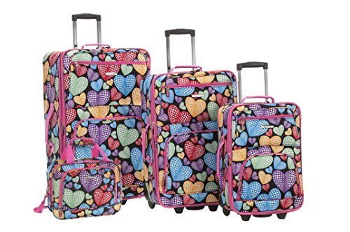 rockland-4-piece-new-heart-luggage-set-newheart-one-size