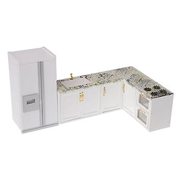 Amazon.es: Dolity Escala 1:12 Juguete Mini Modelo de Nevera y ...