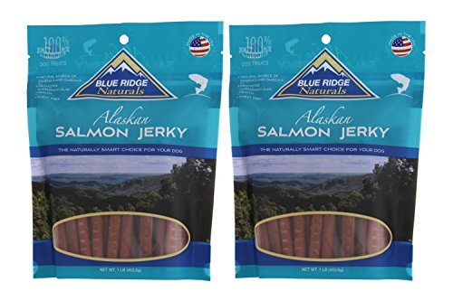 (Blue Ridge Naturals Alaskan Salmon Jerky Dog Treats, 1lb (Pack of 2))