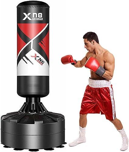 Boxeo Saco XN8 6ft Saco de Boxeo de Pie para Kick Boxing con Soporte Artes Marciales MMA Muay Thai Tarea Pesada