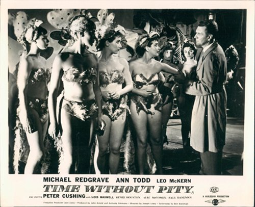 TIME WITHOUT PITY ANN TODD MICHAEL REDGRAVE LOBBY CARD DANCING GIRLS BIKINI