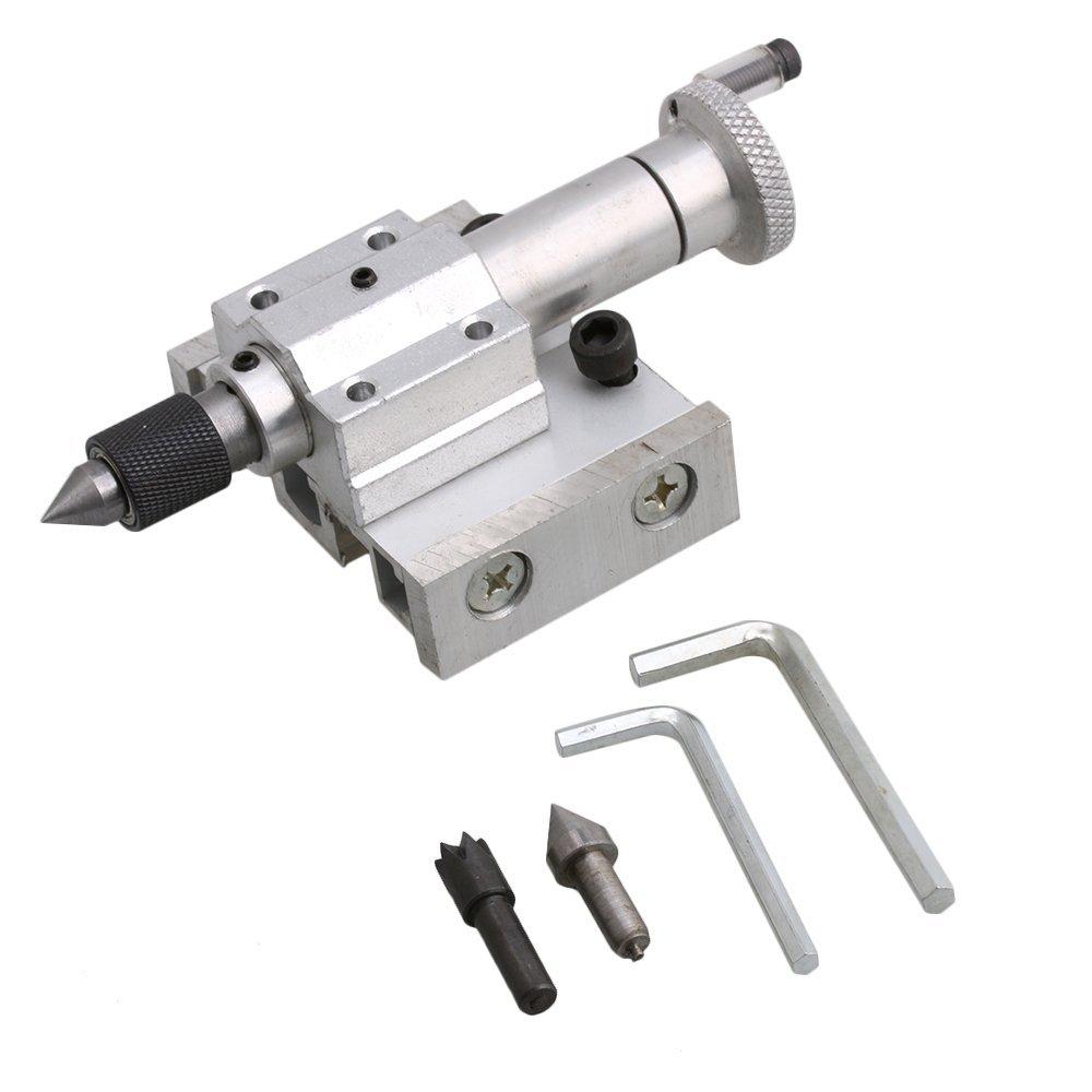 Yibuy Mini Lathe Machines Adjustable Tailstock Jade Puncher Industrial Tool