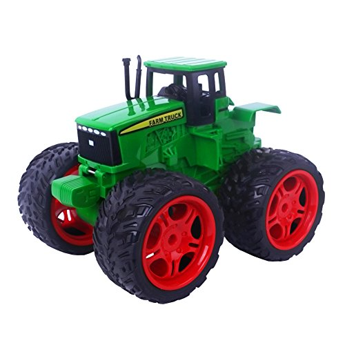 Harvester farm Toy Truck,Push and Go Friction Powered Automatic Functions Bright Colored Car for Boys (Powered Farm)