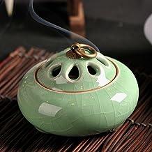 XDOBO Ceramic Ge Ru Kiln Bedroom Pure Copper Incense Burner Holder Gifts & Decor