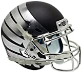 NCAA Oregon Ducks Wing Matte Black Replica Helmet, One Size, White