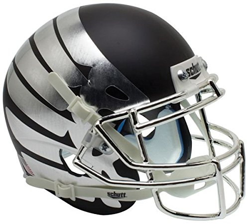 NCAA Oregon Ducks Wing Matte Black Replica Helmet, One Size, White by Schutt