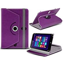 "ONX3® HP Stream 7 7"" Inch Rotating 360 Luxury PU Leather Spring Stand Cover - Various Colours (Purple)"