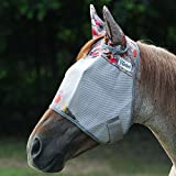 Cashel Hot Leaf Horse Fly Mask with Ears, Sizes: Arab/Cob/Small Quarter Horse