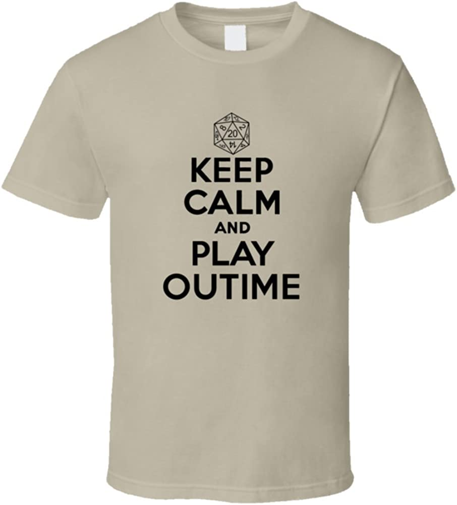 Keep Calm and Play Outime Role Playing Game T Shirt