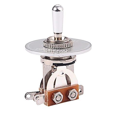 Healifty Selector de Pastillas con Interruptor de Palanca de 3 vías con Anillo de arandela de