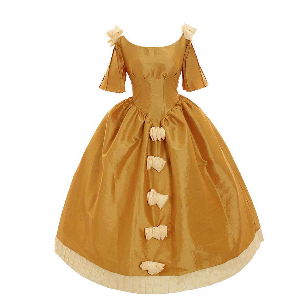 Victorian Dresses | Victorian Ballgowns | Victorian Clothing 1791s lady Womens Yellow Victorian Rococo Medieval Renaissance Gown Dress $99.99 AT vintagedancer.com