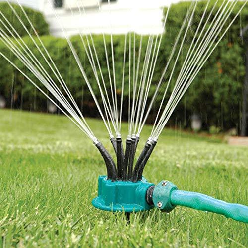 Caiuet Lawn Sprinkler, 360° Sprinkler Irrigation System Used for Garden Lawn Outdoor Automatic Sprinkler