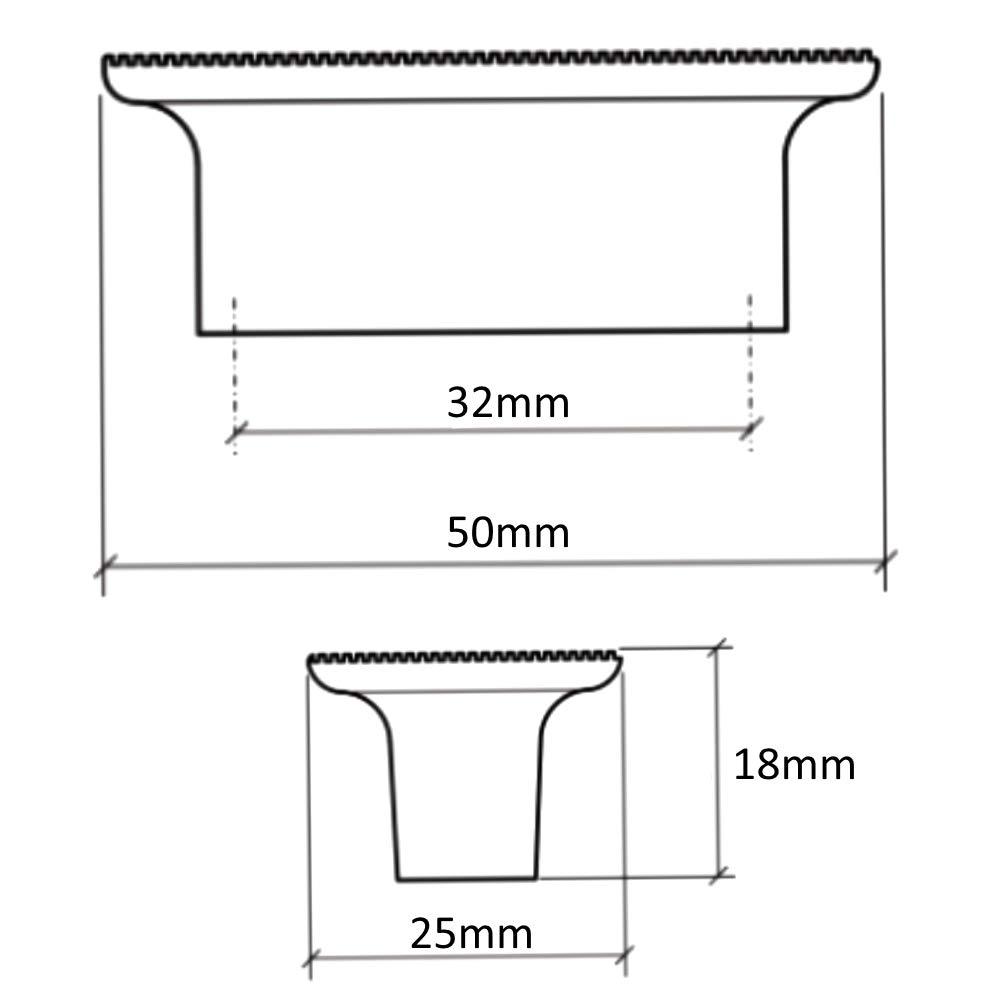 AERZETIX 5x Tirador para caj/ón alacena puerta mueble armario Towada cobre cer/ámico 32mm C41689