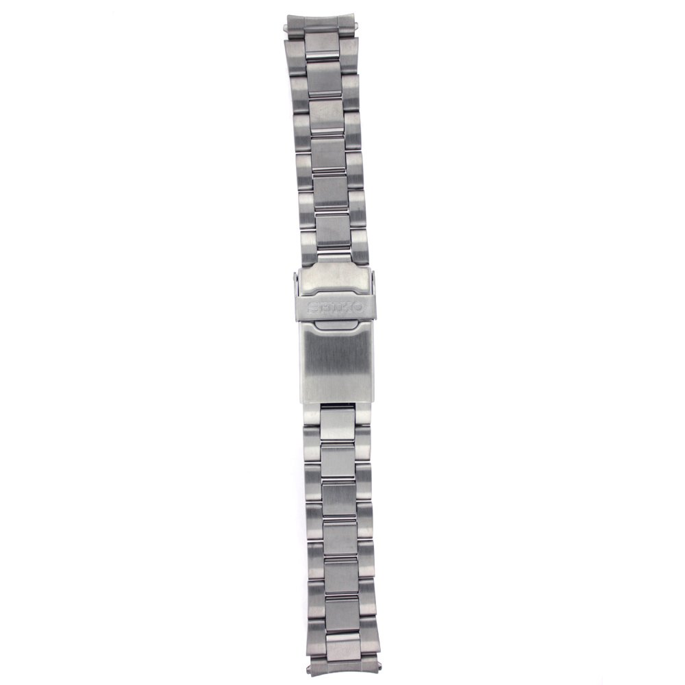 Seiko Stainless Steel 18mm Double Locking Fold-Over Clasp Watch Bracelet by SEIKO