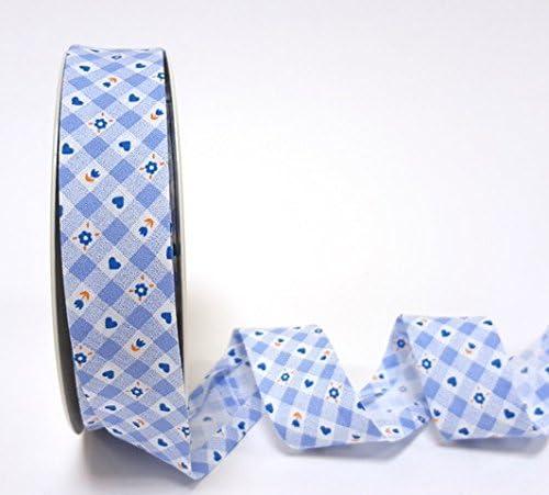 Fantasia - Cinta al bies (25 mm, algodón), diseño de cuadros, color azul: Amazon.es: Hogar
