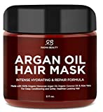 Argan Oil Hair Mask - Intense Hydrating Repair Formula with 100% Organic Argan Oil, Coconut Oil, and Aloe Vera
