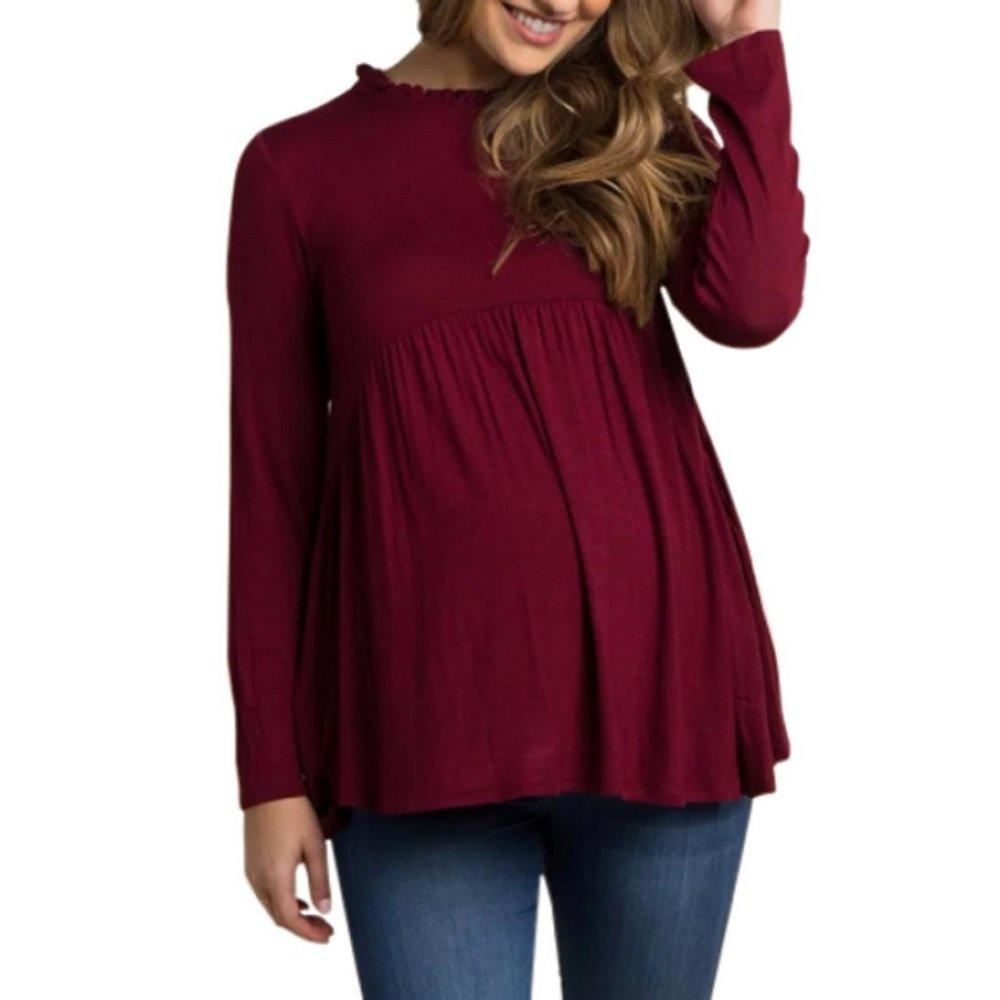 Logobeing Mujer Ropa, Bebé Para La Camiseta de Maternidad Mujeres Embarazadas Tops, Informal T-Shirt: Amazon.es: Ropa y accesorios