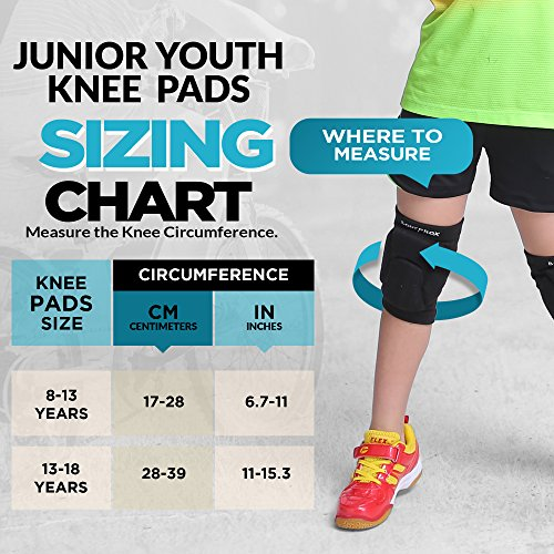 Volleyball Knee Pads for Junior Youth, 1 Pair Unisex