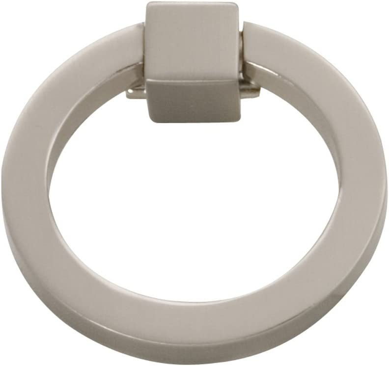 "Hickory Hardware P3190-SN Camarilla Collection Ring Pull 2-1/8 Inch, 2.125"", Satin Nickel"