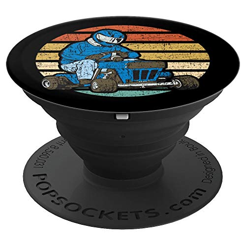 Vintage Lawn Mower Race PopSockets Grip and Stand for Phones and Tablets