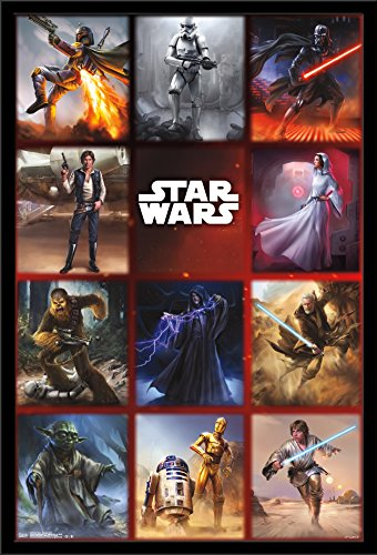 Trends International Wall Poster Star Wars Moments Grid, 22.375 x 34