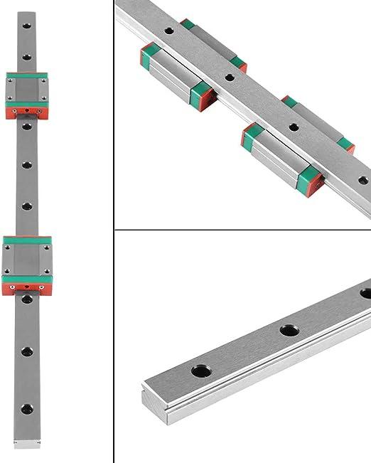Jadpes Guía Lineal en Miniatura, 1pc 400mm/15.7in Guía de riel ...