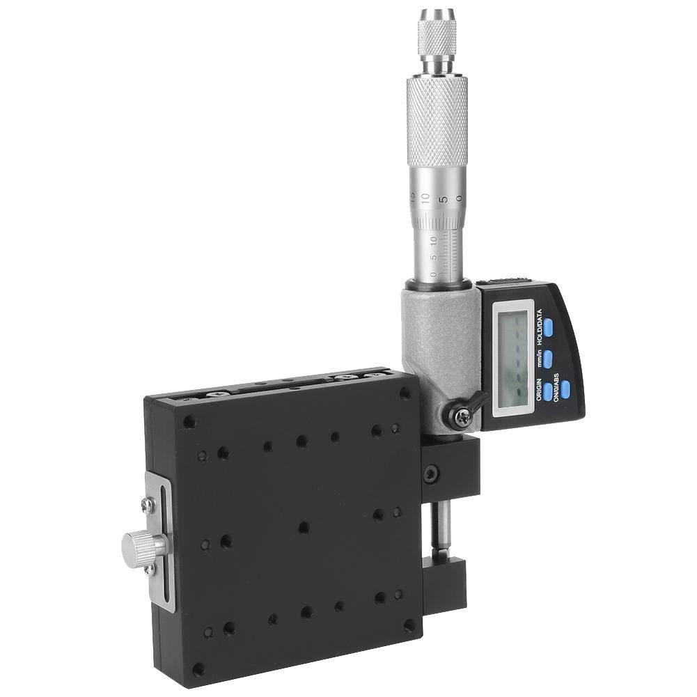 Micr/ómetro digital SEMX80-AS /± 12.5 mm 25 mm X-Axis Cross Roller Railway Linear Stages 80 /× 80 mm Aleaci/ón de aluminio