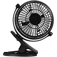Dreamiracle Clip Desk Fan USB Mini Table Fan, 2 Speed Clip On and Stand Portable Quiet Air Cooling Fan, USB Powered 360° Rotating For Home, Office