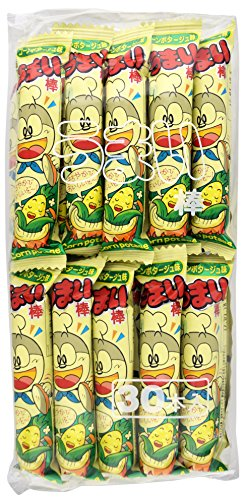 Yaokin Umaibo Corn Puff Snack Corn Potage Flavor 30 pcs