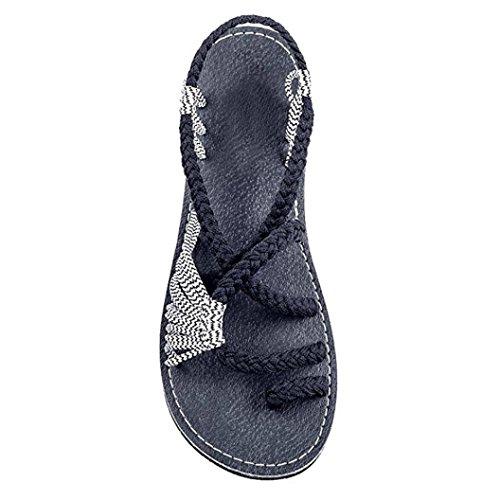 Cordones Moda Correa C De Planas Bailarinas Bohemia de ASHOP Chanclas Cuero Sandalias Las Sandalias Verano Zapatos Mujer de Zapatillas y Playa 1vwWnRFn8O