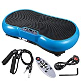 ReaseJoy 500W Vibration Plate Crazy Fit Massage Exercise Machine Oscillating Platform Blue