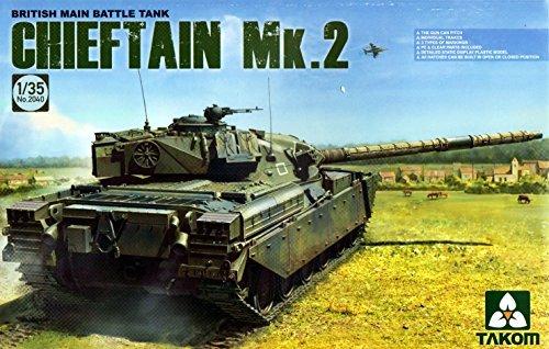 British Tank Main Battle (Takom Tak, 2040-Model Kit British Main Battle Tank Chieftain Mk. 2 by Takom)