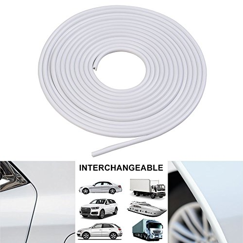 5M Porte De Voiture Protecteur De Bord Porte Garniture De Moulage Edge Guard Rubber Strip Anti-Scratch Couleur : Blanc