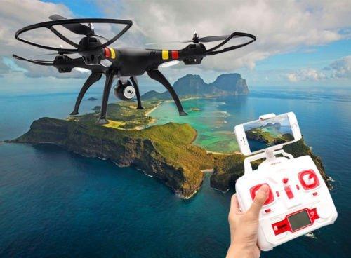 Black Syma X8w Explorers Drone Wifi Fpv Rc Quadcopter 4Ch Gyro 2Mp Camera Rtf