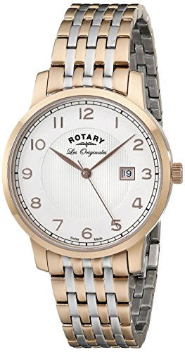 Rotary Men's gb90080/04 Analog Display Swiss Quartz Two Tone Watch
