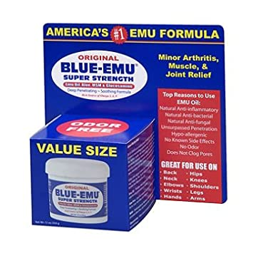Amazon com: Blue Emu Original Analgesic Cream, Family Size