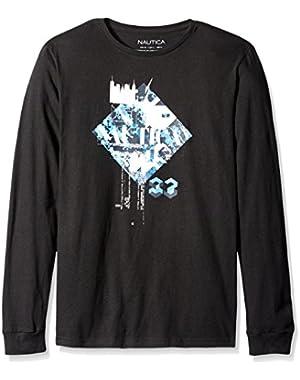 Men's Diamond Graphic Long Sleeve T-Shirt