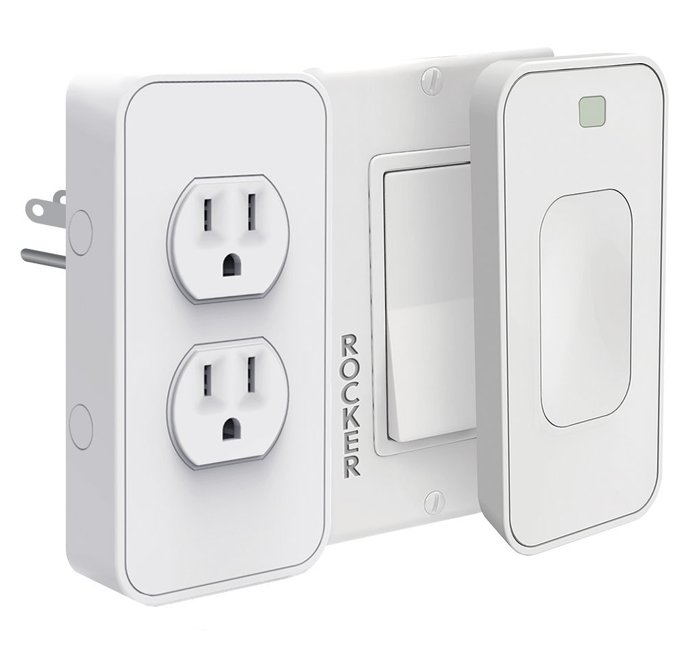 Power & Switichmate Slim for Rocker Light Switches by Simply Smart Home, Dual Outlet & Light Switch Timer/Automation, Smart Plug, DIY, USB Charger, Nightlight, No Tools, No Wiring