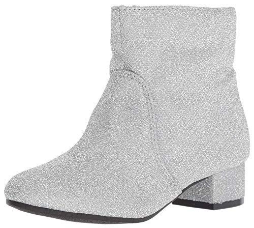 Nine West Girls' Alexius Fashion Boot, Silver Sparkle, M030 M US Little Kid ()