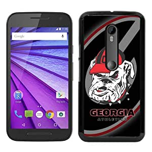 Hot Sale Motorola Moto G 3rd Generation Case ,Unique And Durable Designed Case With Southeastern Conference SEC Football Georgia Bulldogs 3 black Moto G 3rd Gen Cover Phone Case