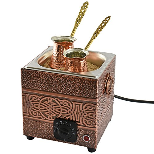 Turkish Sand Coffee 7.90 inches, Copper Sand Brewer Gadget, Turkish Coffee Machine, Coffee on Sand, Copper Pot, Turkish Coffee Pot, Restaurant Hotel Coffee Shops, Third Wave Coffee
