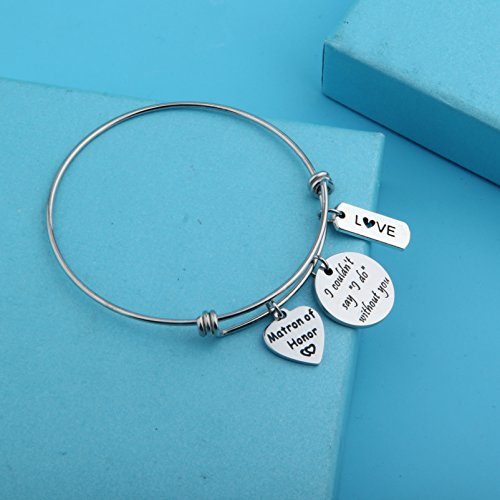 Zuo Bao Bridesmaid Gift I Couldn't Say I Do Without You Bracelet Matron of Honor Jewelry Maid of Honor Proposal Gift (Silver) by Zuo Bao (Image #1)