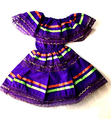 Mexican Infant Dress Size 1 Dress Color Purple Day The Dead Coco Theme Party Halloween Party ()