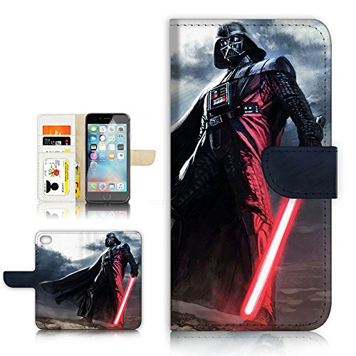 (For iPhone 5 5S / iPhone SE ) Flip Wallet Style Case Cover, Shock Protection Design with Screen Protector - B31011 Starwars Darth Vader (Best Iphone 5s Cases For Protection And Style)