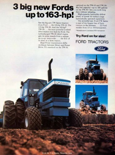 Review 1979 Ad Ford Tractor