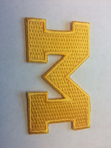 University Michigan Wolverines Embroidered Iron On/ Sew on Badge Patch Emblem 3 x 2 ()